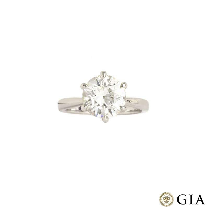 Platinum Diamond Ring 3.04ct J/VS1